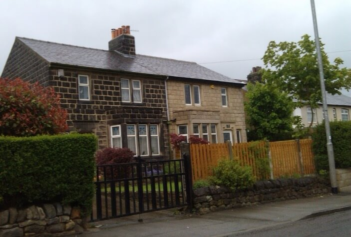 Semi Detatched House in Rawden After Being Chemically Cleaned and Repointed