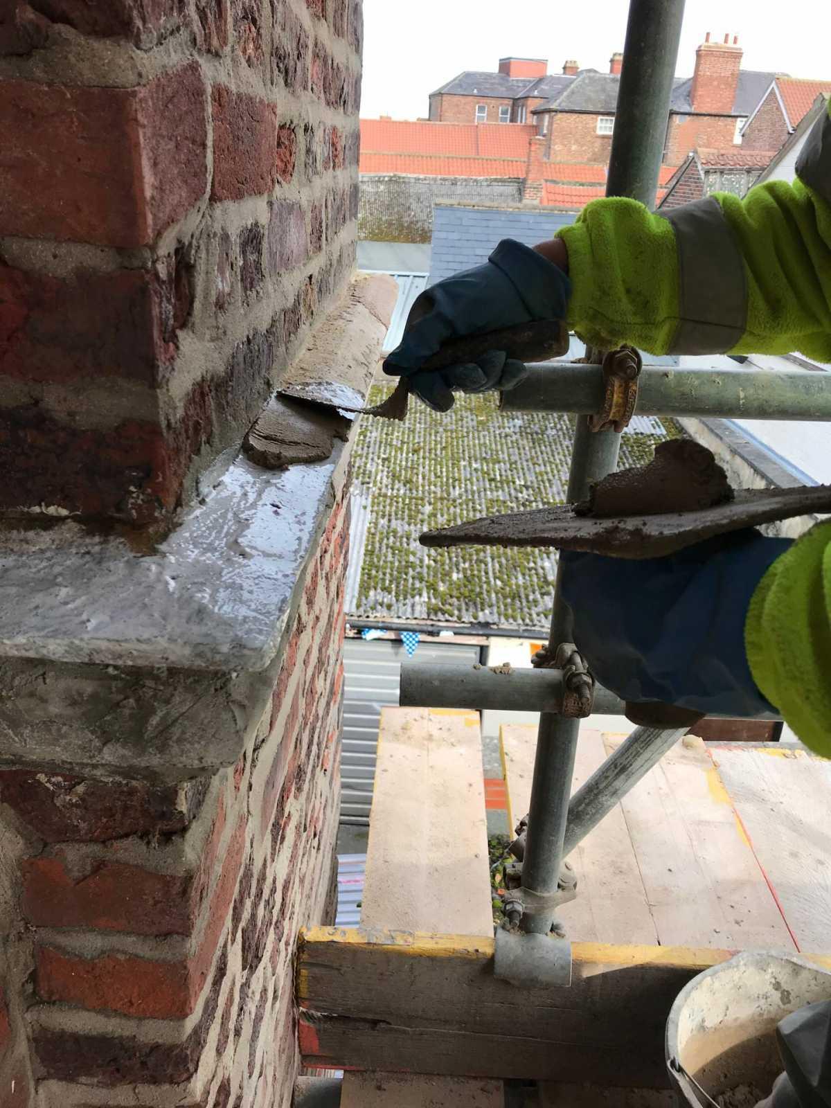 Zion Church adhesive plus pre mix stone mortar Northallerton