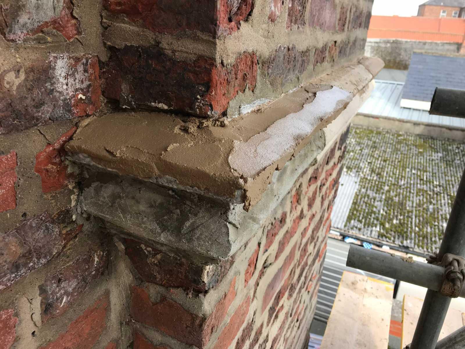 Zion Church pre mix stone mortar coloured to match Northallerton