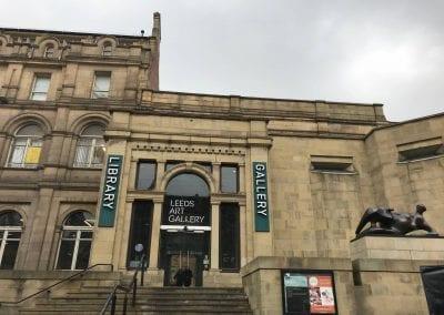 Front of Leeds Art Gallery