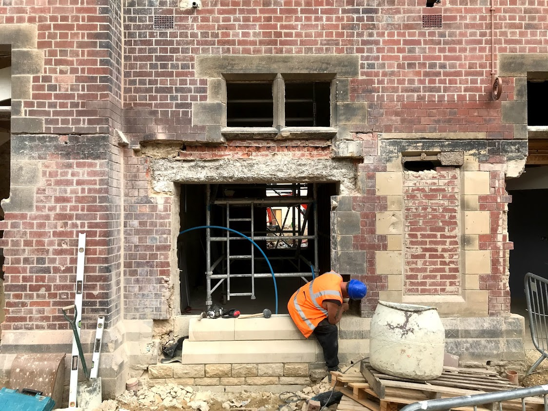 Reforming A Window With New Stone In BRC Leeds Ltd