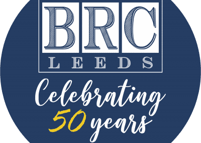 BRC 50th Logo Round Trans BGround - brick facade repair